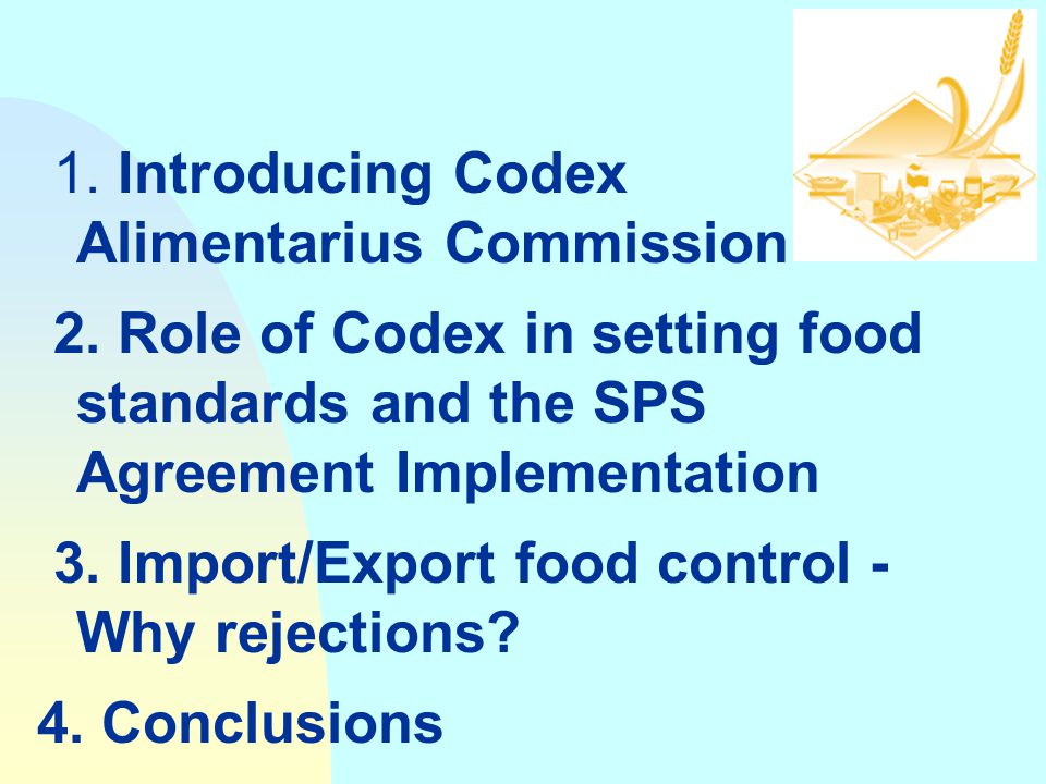 FAO/WHO CODEX ALIMENTARIUS COMMISSION (CODEX) Joint FAO/WHO Food Standards Programme Food and Agriculture Organization of the United Nations Lusaka, Z