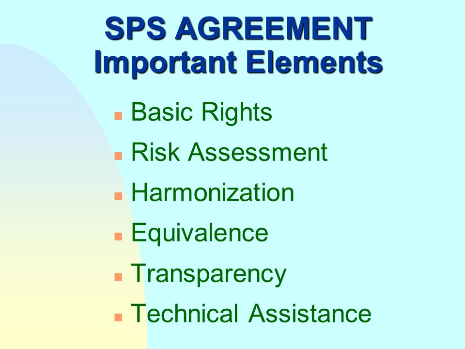Codex and the SPS Agreement