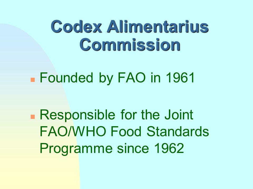 """What is """"Codex"""" n The Codex Alimentarius Commission u Committees and Task Forces u Secretariat n The Codex Alimentarius u Standards and residue limits"""
