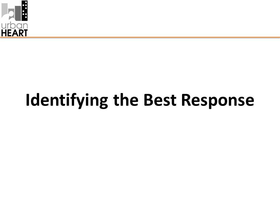 Identifying the Best Response