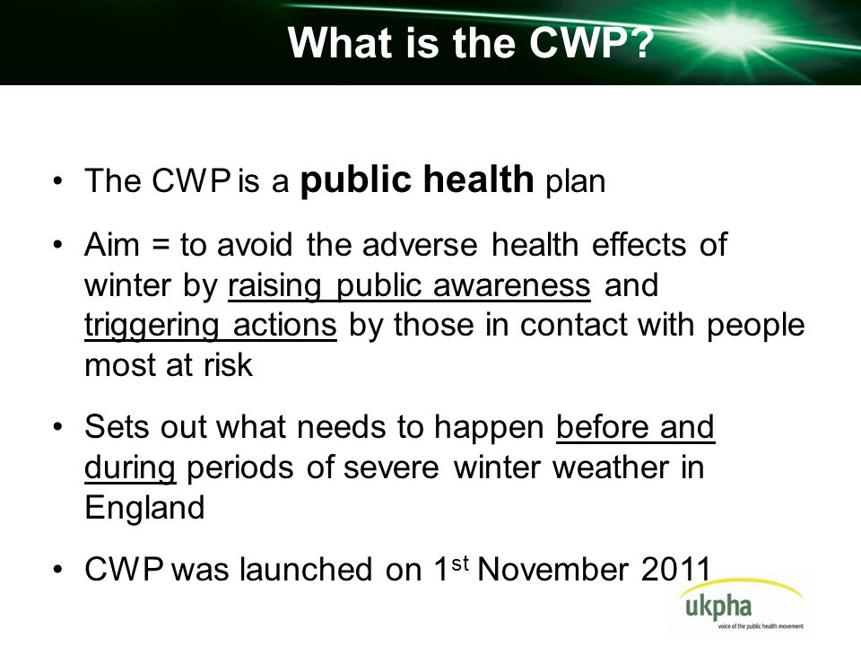 What is the CWP.