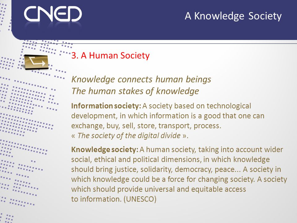 From pyramid to network: complexification 4. A Networked Society A Knowledge Society