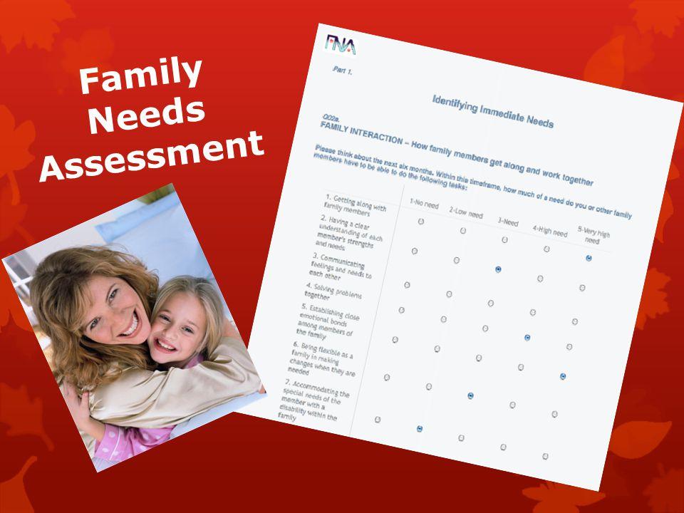 Family Needs Assessment
