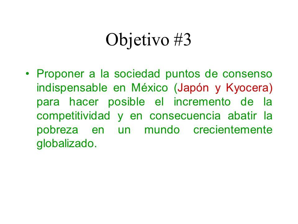 Objetivo #4 Llamar a los empresarios mexicanos (Kyocera) para que se unan a los que ya están en Coparmex (e.g.