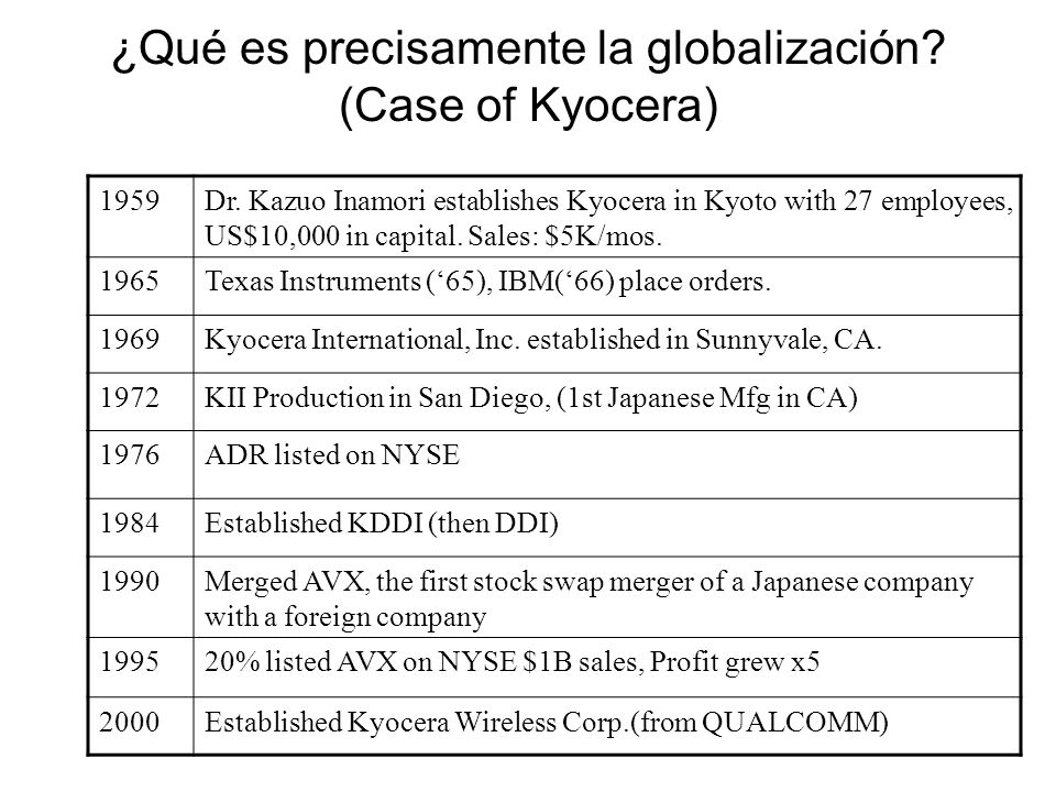 1.Introducing Kyocera Corporation 2. Strategic Market Directions 3.