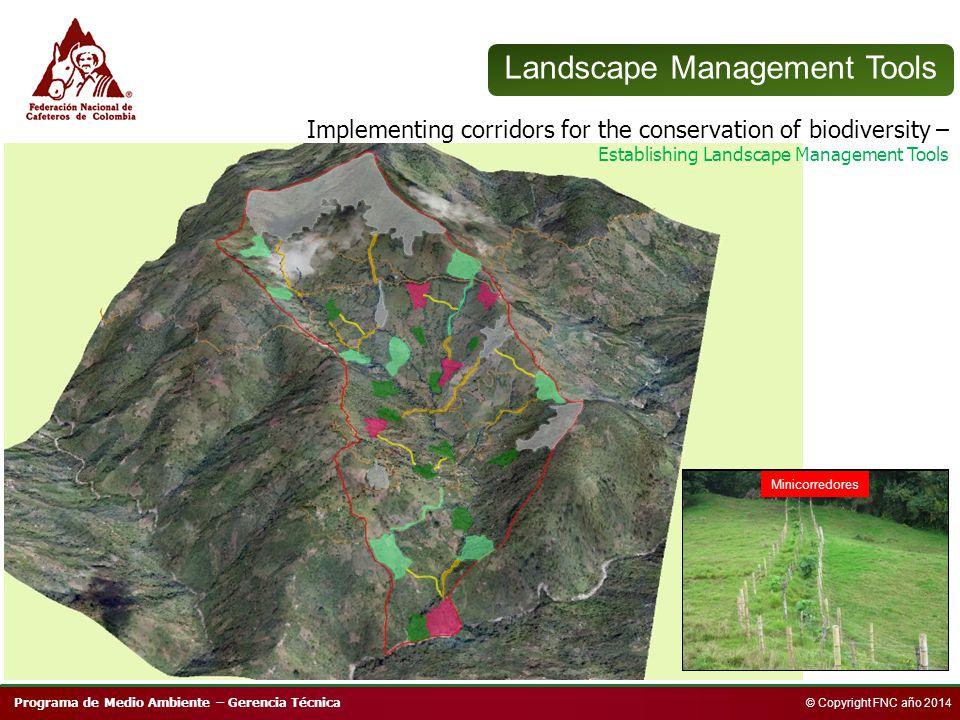 Programa de Medio Ambiente – Gerencia Técnica © Copyright FNC año 2014 Conservación bosques Plantaciones con nativas Enriquecimiento bosques Sistemas