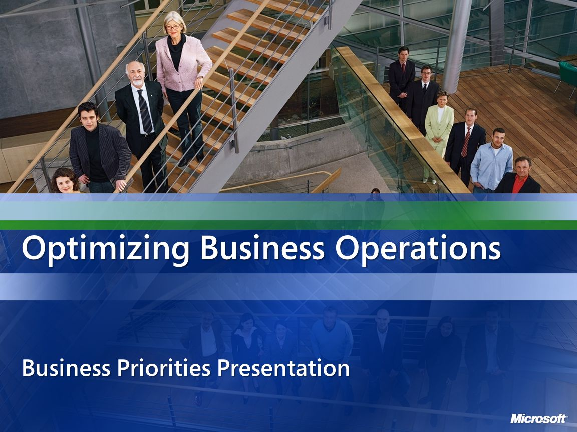 Optimizing Business Operations Business Priorities Presentation