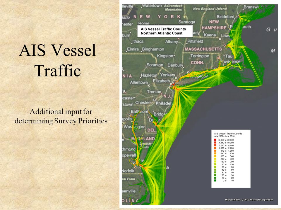 AIS Vessel Traffic Additional input for determining Survey Priorities