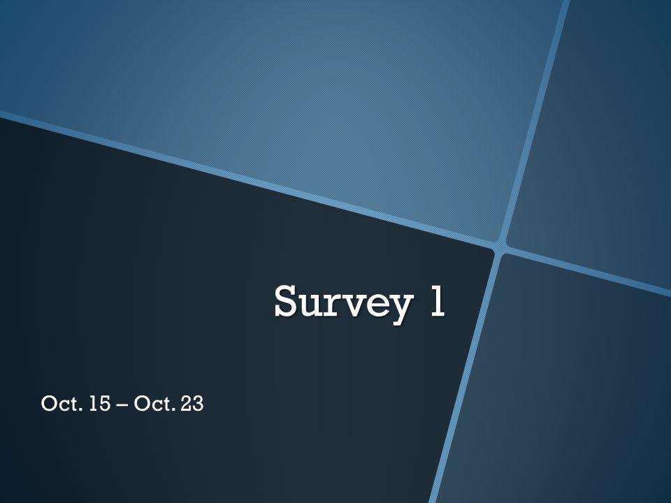 Survey 1 Oct. 15 – Oct. 23