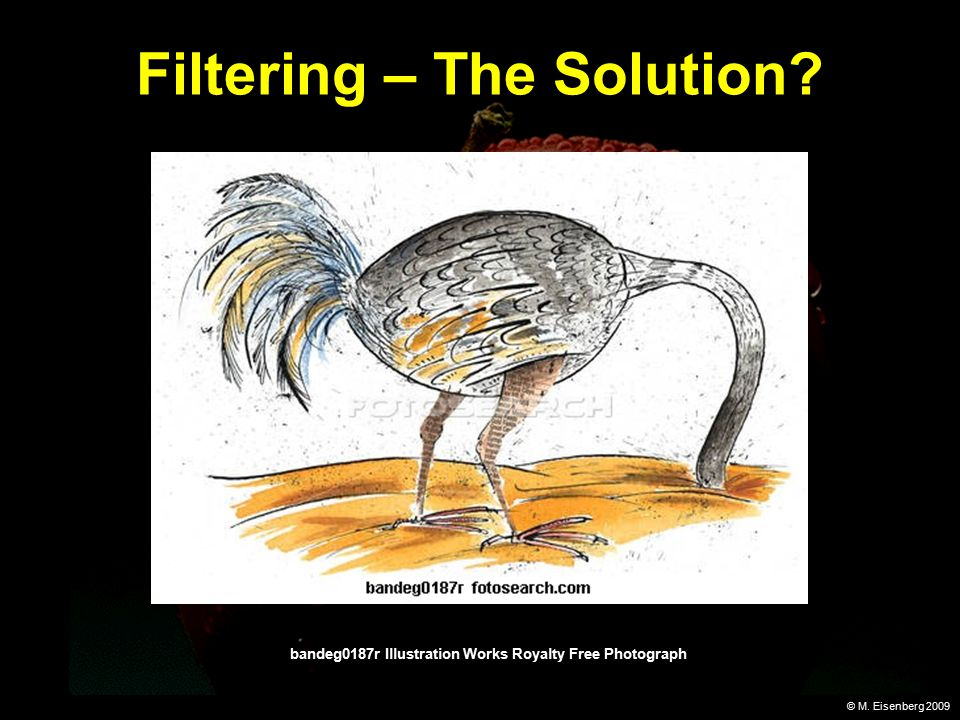 © M. Eisenberg 2009 Filtering – The Solution.