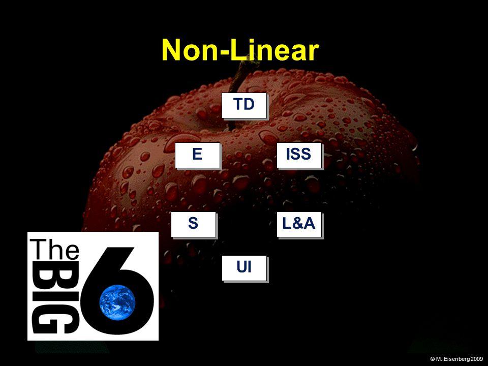 © M. Eisenberg 2009 Non-Linear TD L&A UI ISS S S E E