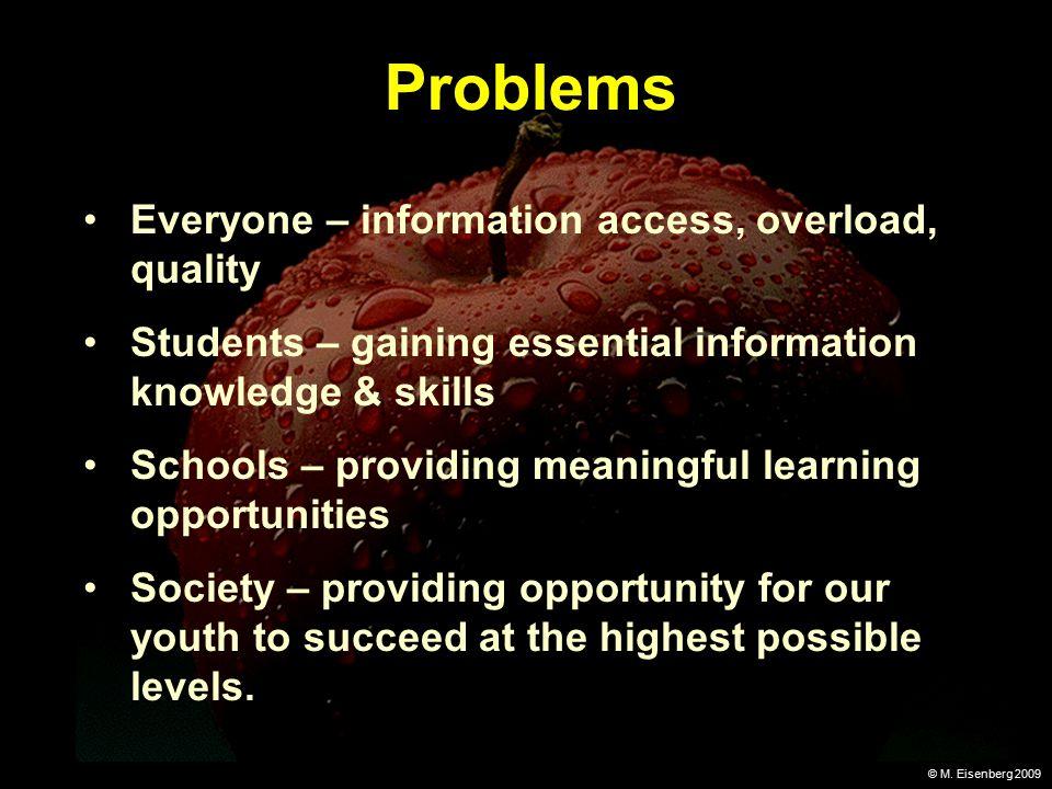 © M.Eisenberg 2009 Solution Information literacy.