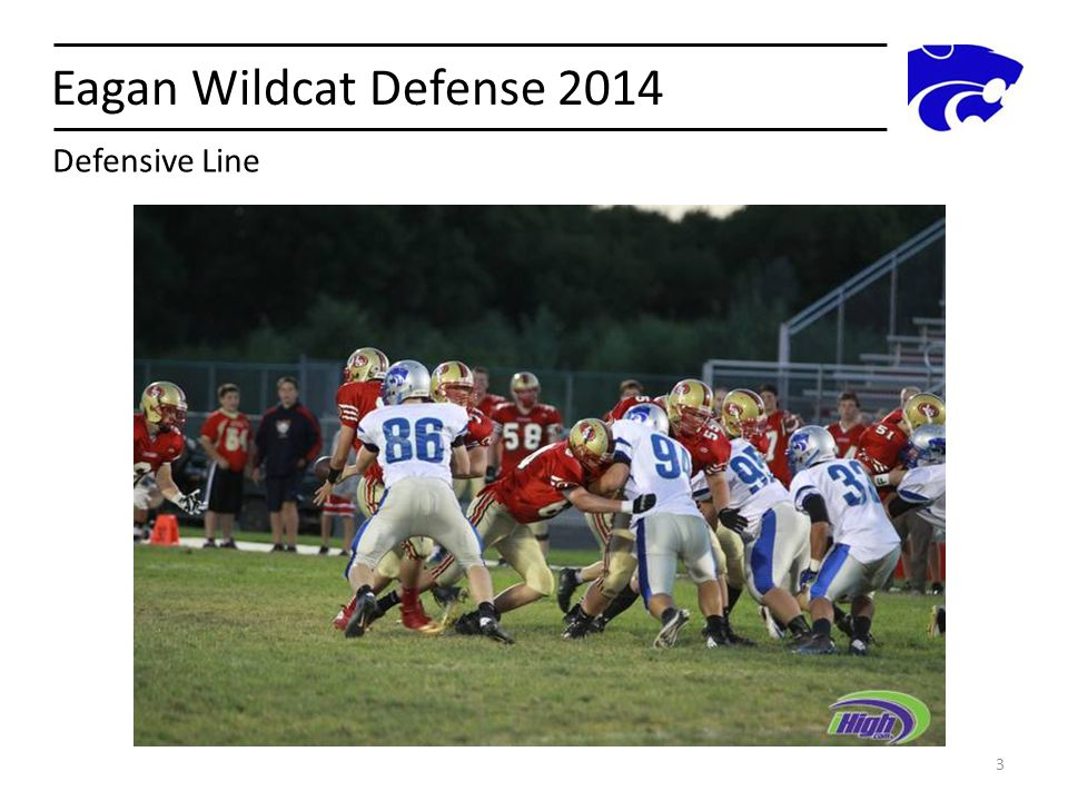 Eagan Wildcat Defense 2014 3 Defensive Line