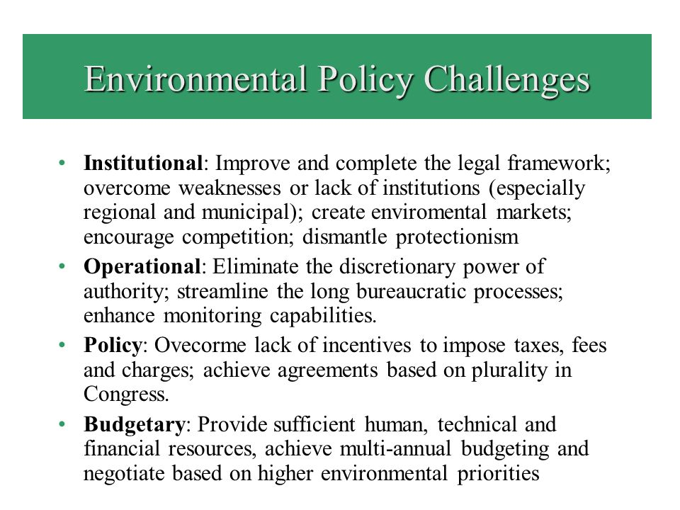 Invitation to Discussion: Environmental Policy Challenges in Productive Sectors Can environmental public policy have any influence to improve sectoral environmental performance in the short term.
