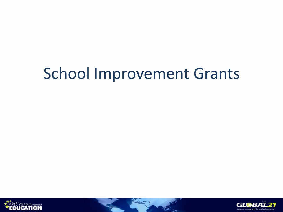 School Improvement Grants 10