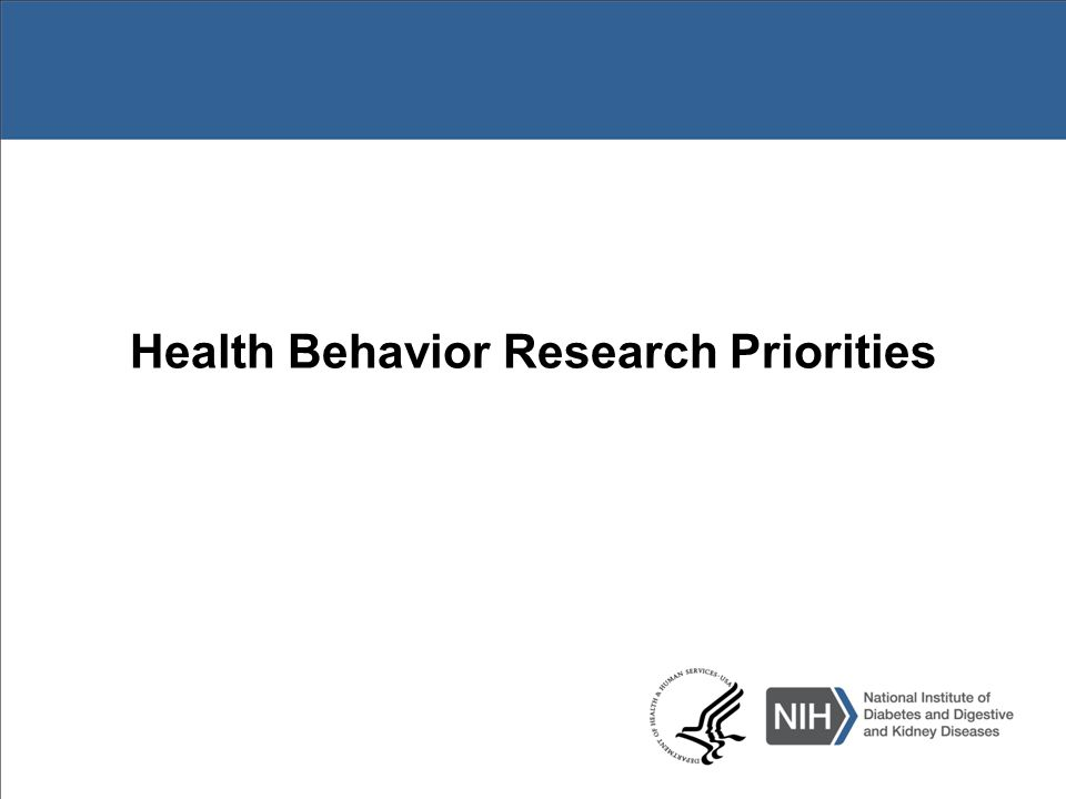 Health Behavior Research Priorities