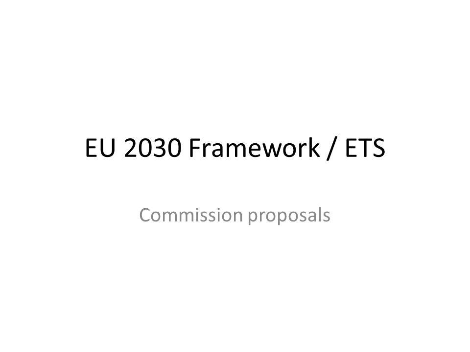 EU 2030 Framework / ETS Commission proposals