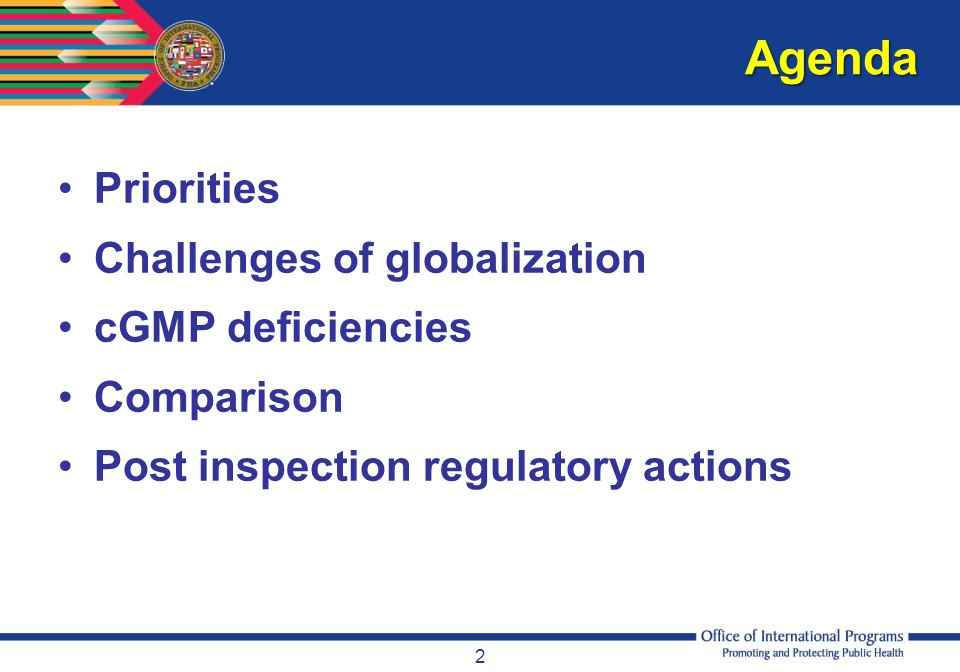 cGMP deficiency observations for international inspections 43