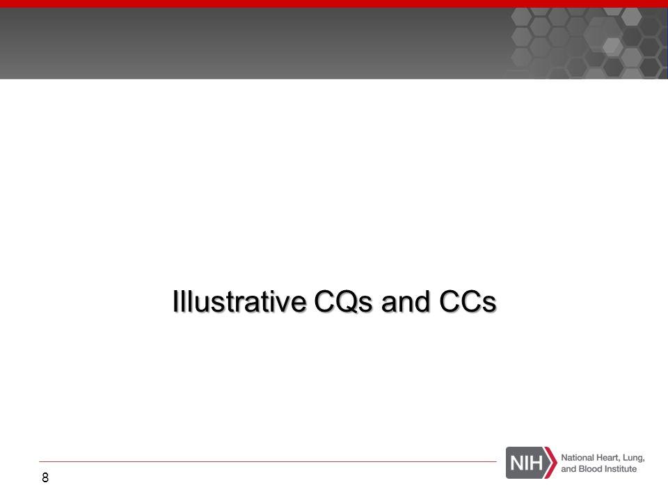 Illustrative CQs and CCs 8
