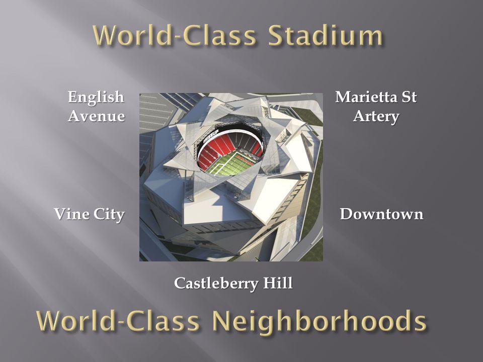EnglishAvenue Vine City Castleberry Hill Downtown Marietta St Artery