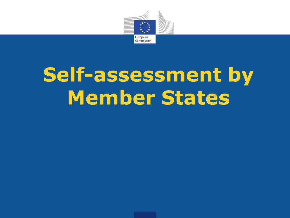 Self-assessment by Member States
