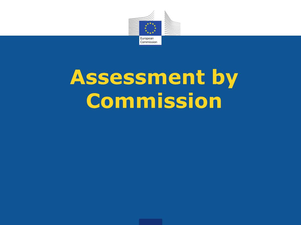 Assessment by Commission