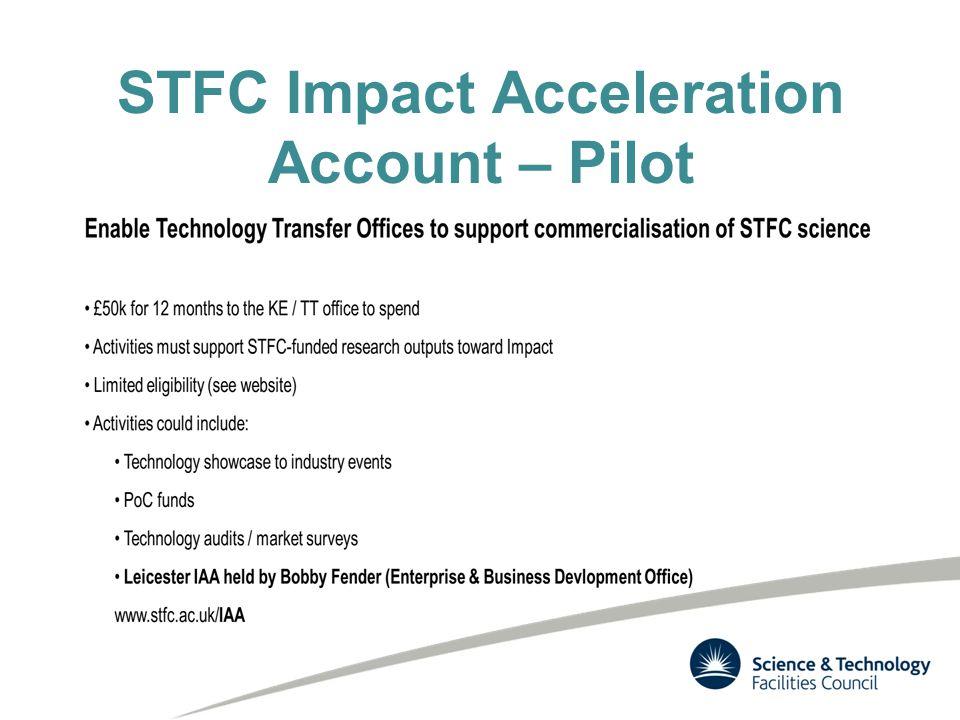 STFC Impact Acceleration Account – Pilot