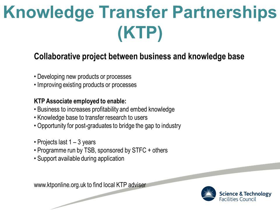 Knowledge Transfer Partnerships (KTP)