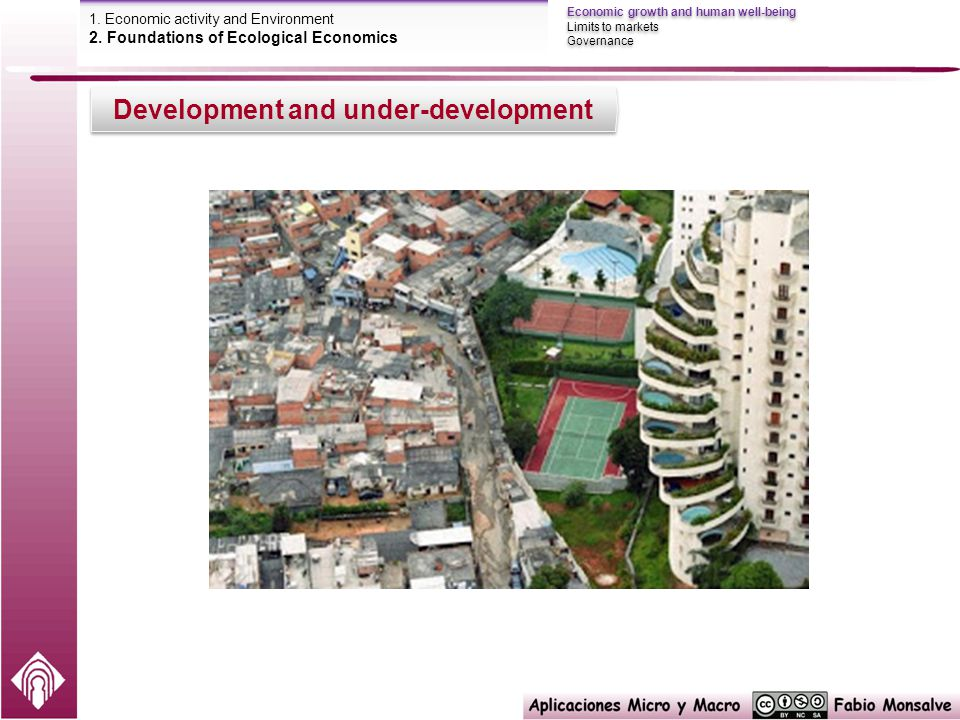 Development and under-development Economic growth and human well-being Limits to markets Governance Economic growth and human well-being Limits to markets Governance 1.