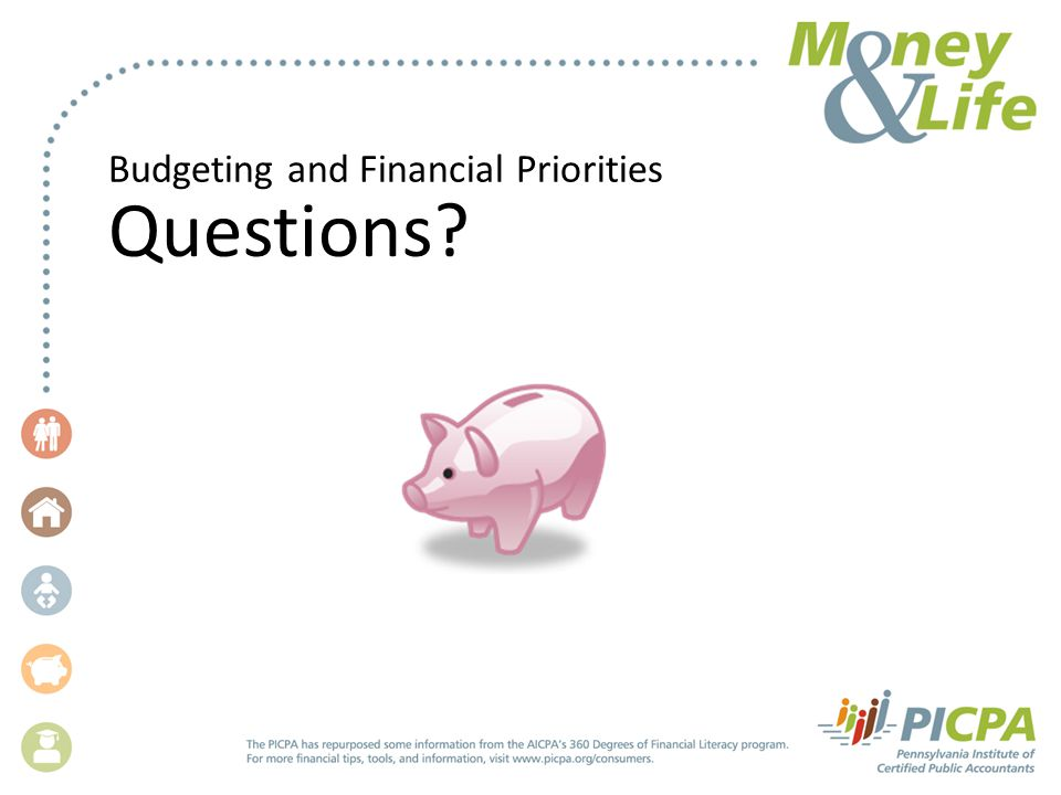 Budgeting and Financial Priorities Questions?