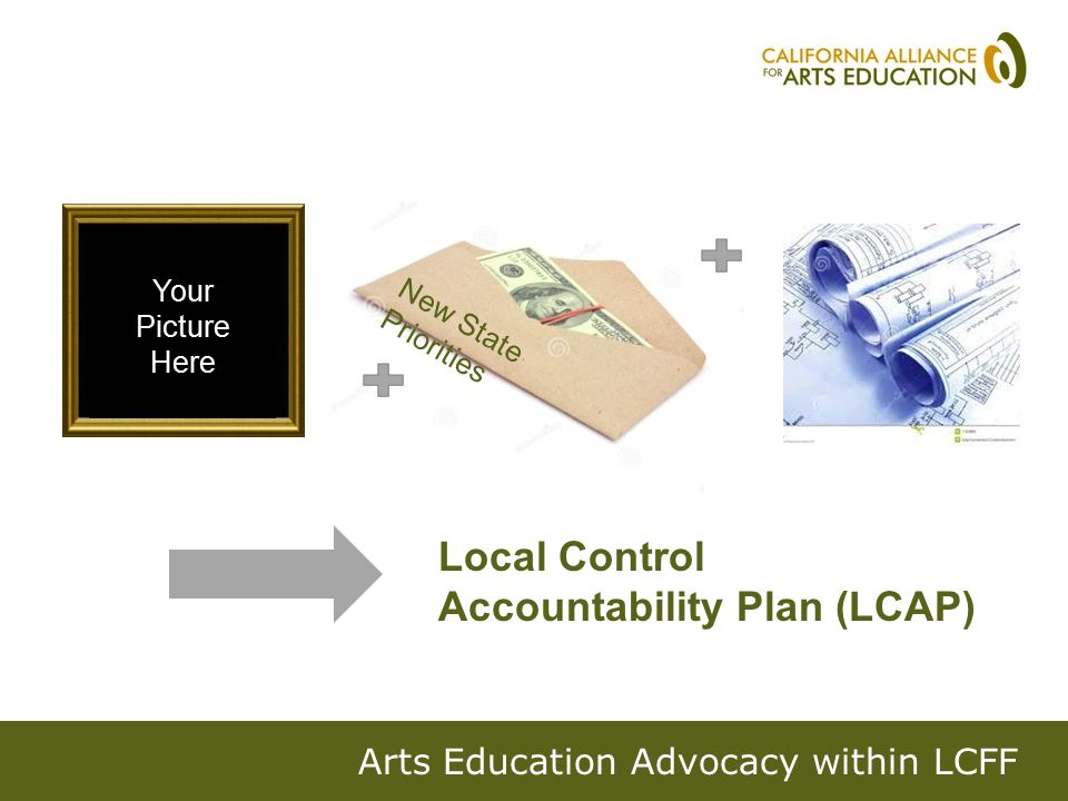 Next steps Get on an LCAP committee Be in the loop on process Check out our Sample LCAP Arts Asks Figure out an ask based on what's in the LCAP