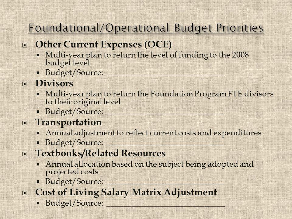 1.Guaranteed Graduate – Budget/Source: None 2.