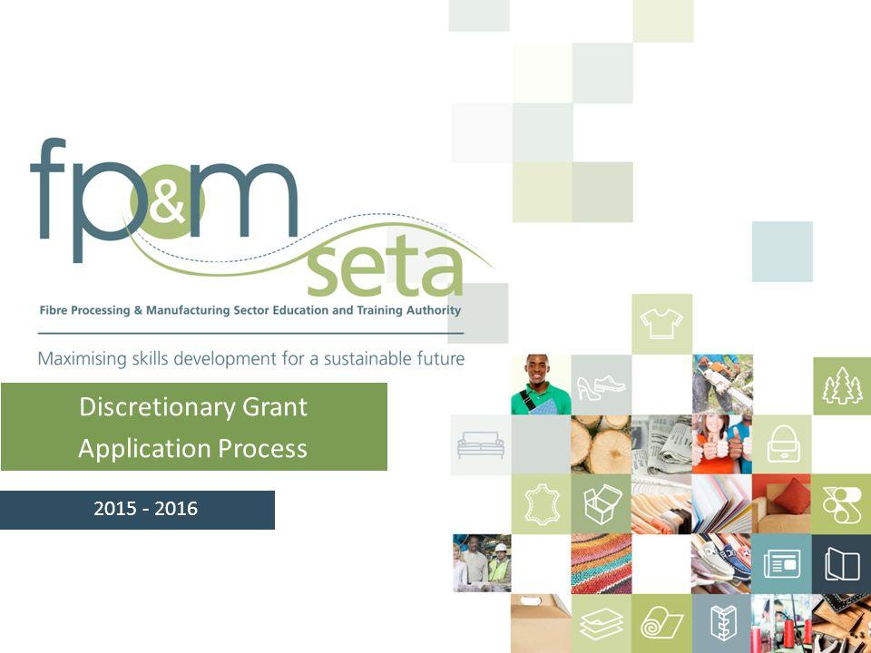 Discretionary Grant Application Process 2015 - 2016