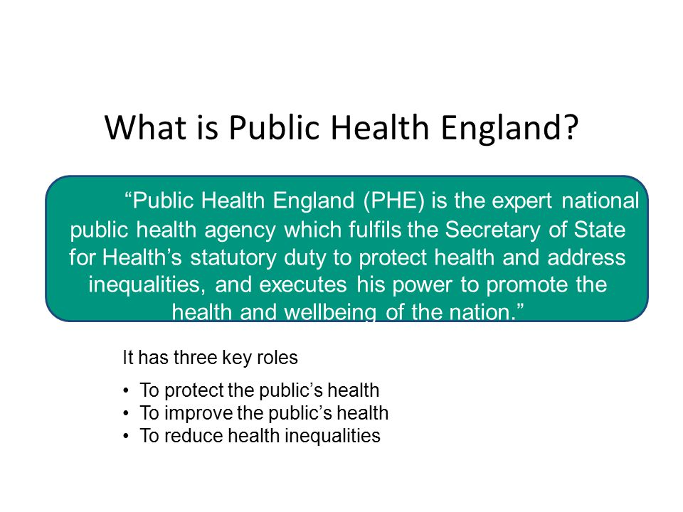 What is Public Health England.