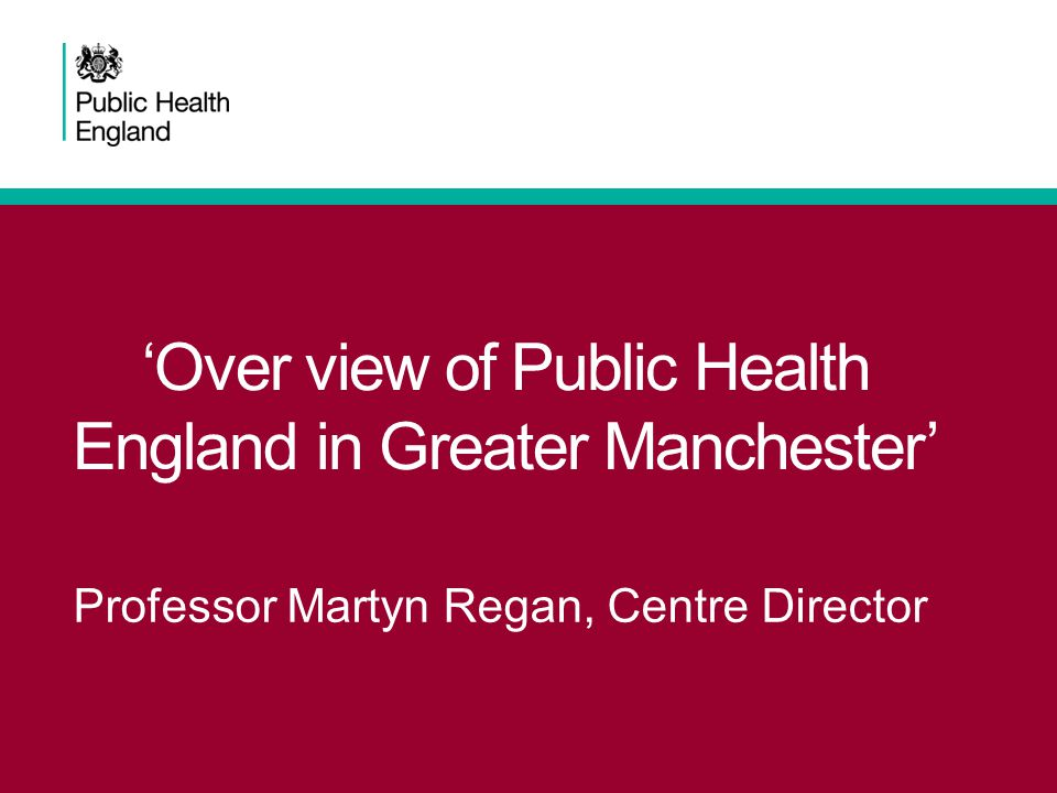 Origins of Public Health England Healthy Lives, Healthy People white paper –Published November 2010 to set out a new approach to public health –Responsibility for local health improvement returned to local authorities from 1 April 2013 –Public Health England is the expert national public health agency which fulfils the Secretary of State for Health's statutory duty to protect health and address inequalities, and executes his power to promote the health and wellbeing of the nation.