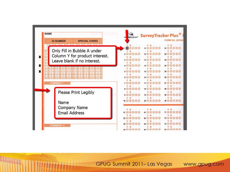 GPUG Summit 2011– Las Vegas www.gpug.com
