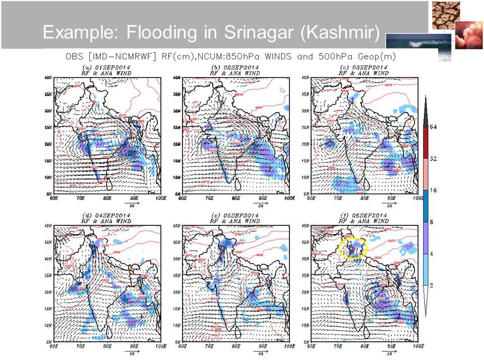 Example: Flooding in Srinagar (Kashmir)