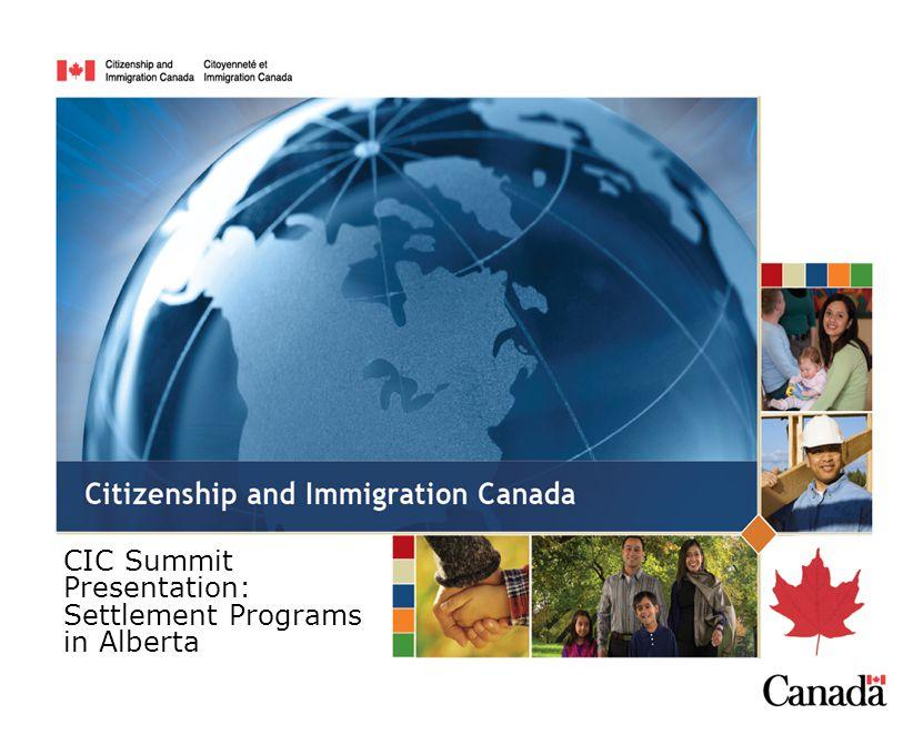 CIC Summit Presentation: Settlement Programs in Alberta