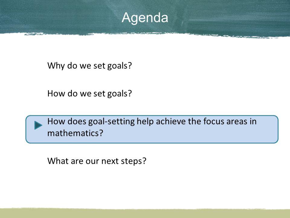 Why do we set goals. How do we set goals.