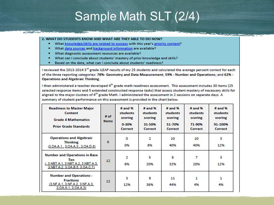 Sample Math SLT (2/4)