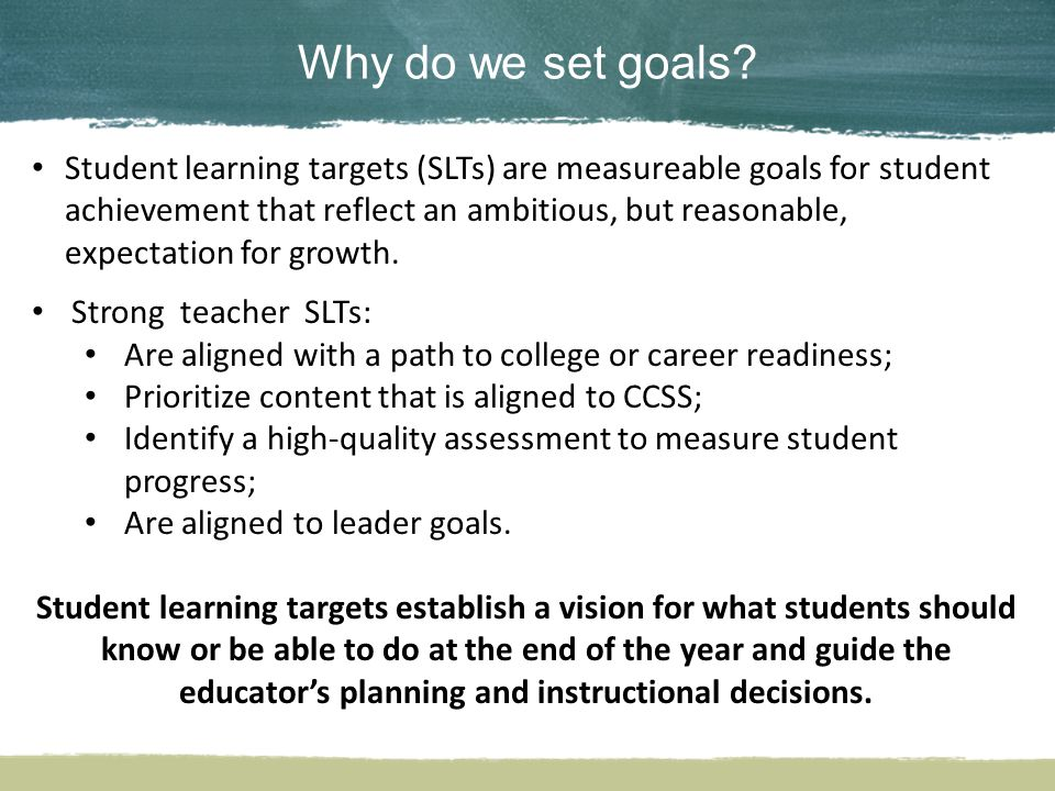 Why do we set goals.