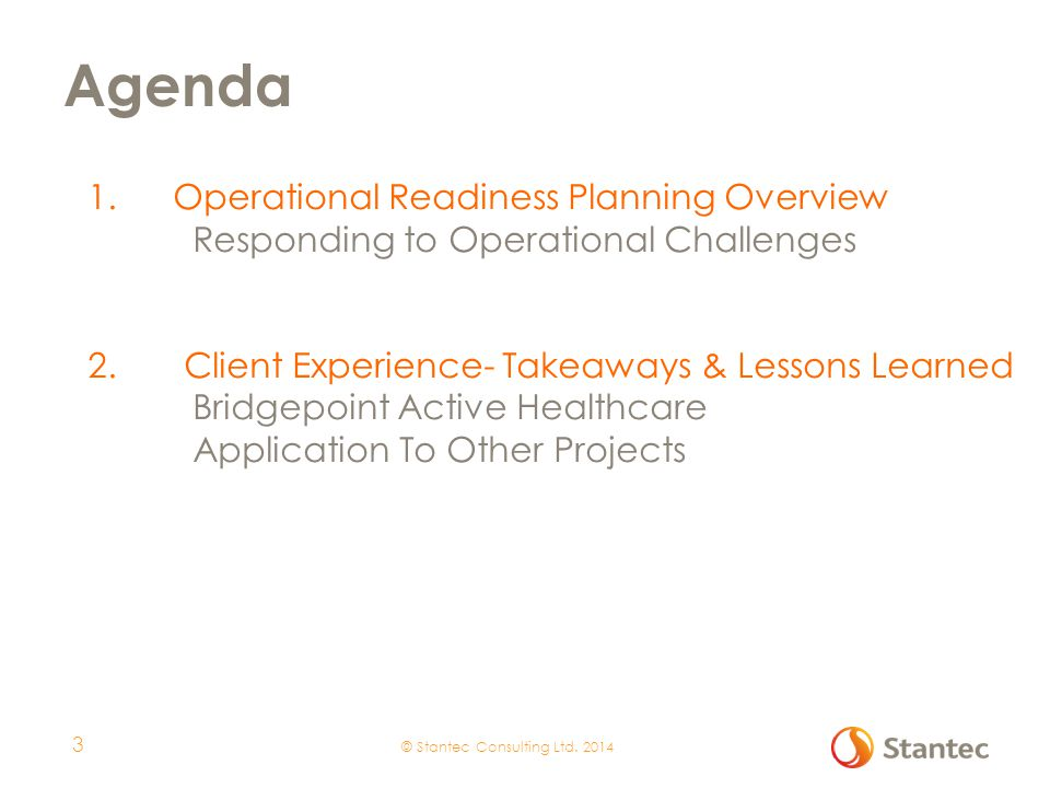 Operational Readiness Planning Overview 1 4