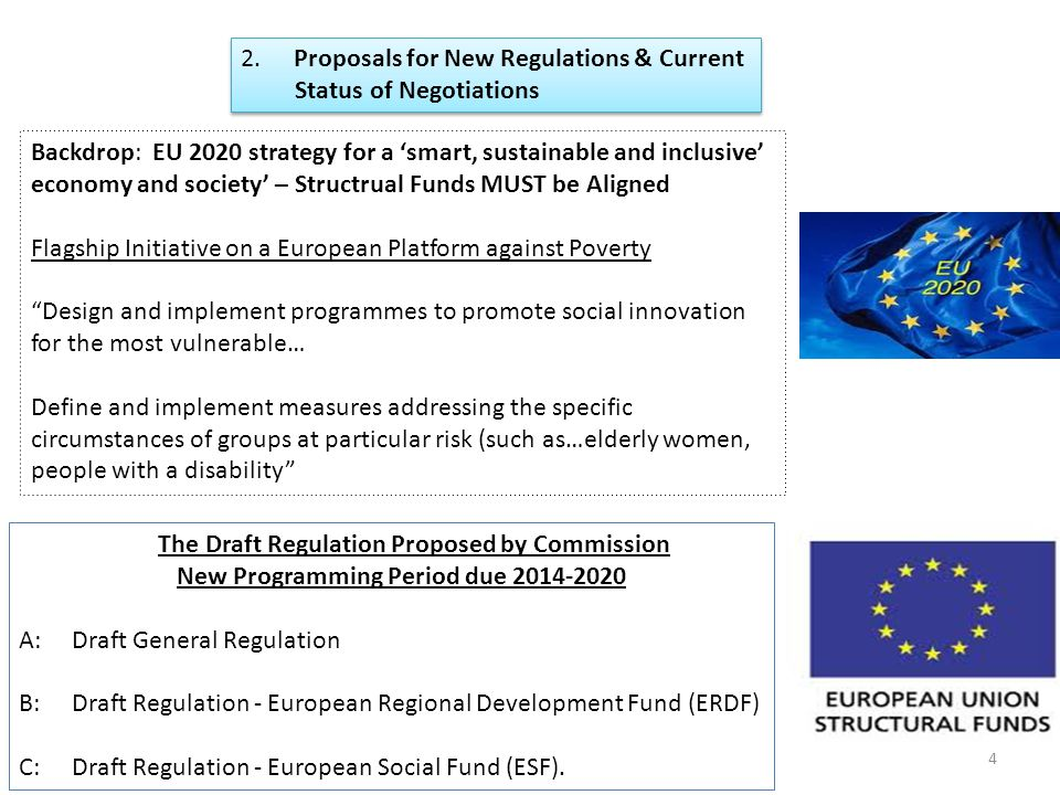 2. Proposals for New Regulations & Current Status of Negotiations 2.