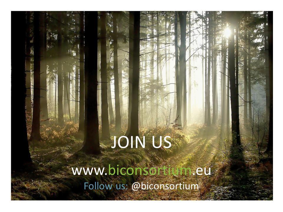 JOIN US www.biconsortium.eu Follow us: @biconsortium