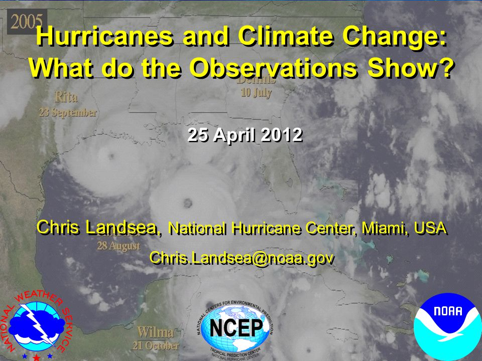 Hurricanes and Climate Change: What do the Observations Show.