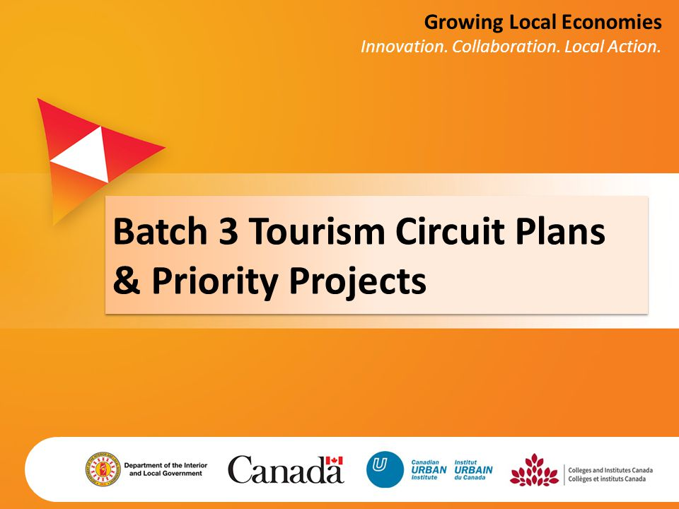 Batch 3 Tourism Circuit Plans & Priority Projects Growing Local Economies Innovation. Collaboration. Local Action.