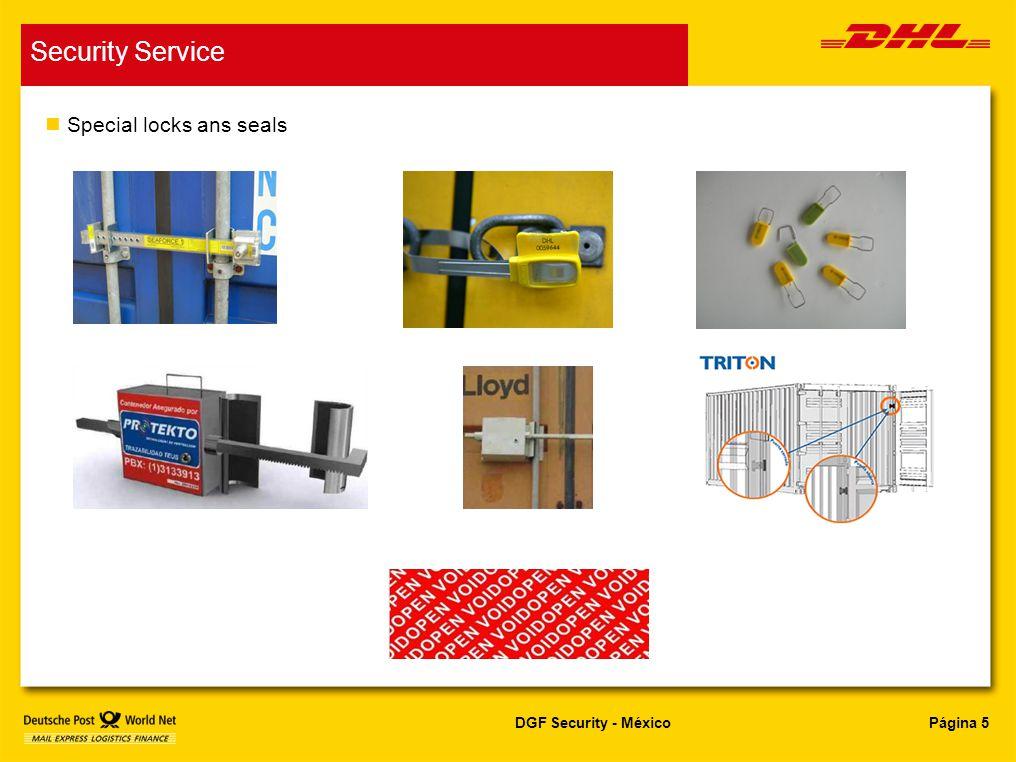 Página 5DGF Security - México Security Service n Special locks ans seals