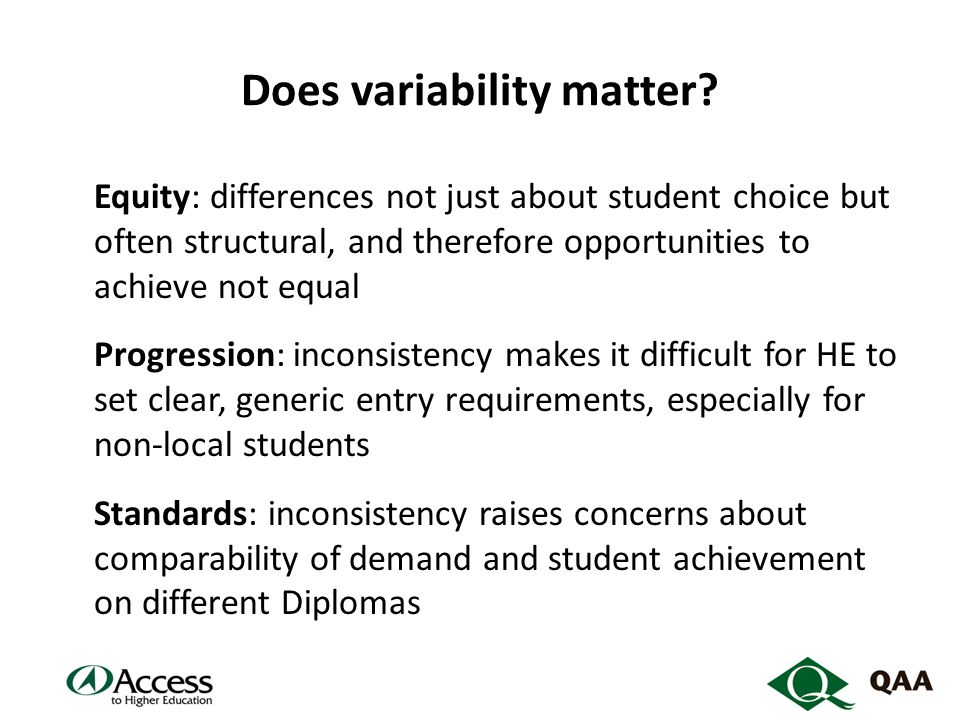 Does variability matter.