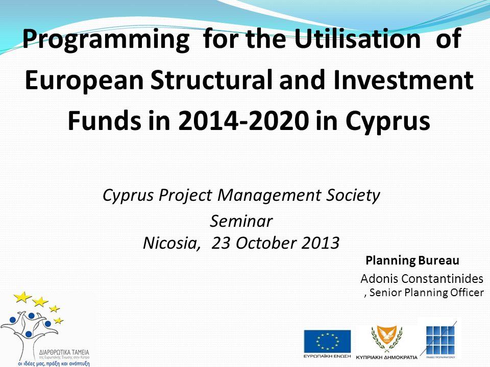 PROGRAMMING PERIOD 2014-2020 PROGRAMMING FRAMEWORK Project Selection EU level National Level Strategy National Level Programming REGULATIONS Common Strategic Framework ERDF, CF, ESF, EAFRD, EMFF PARTNERSHIP AGREEMENT ERDF, CF, ESF, EAFRD, EMFF OP FA EMFF OP RD EAFRD PROGRAMMES COHESION POLICY ERDF, CF, ESF