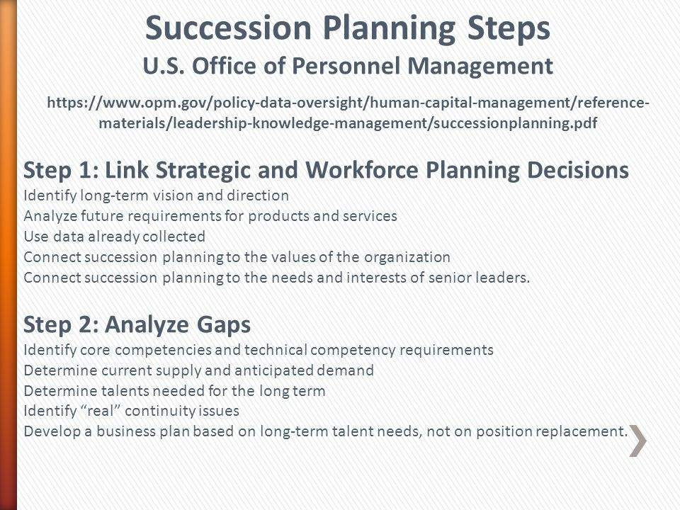 Succession Planning Steps U.S.